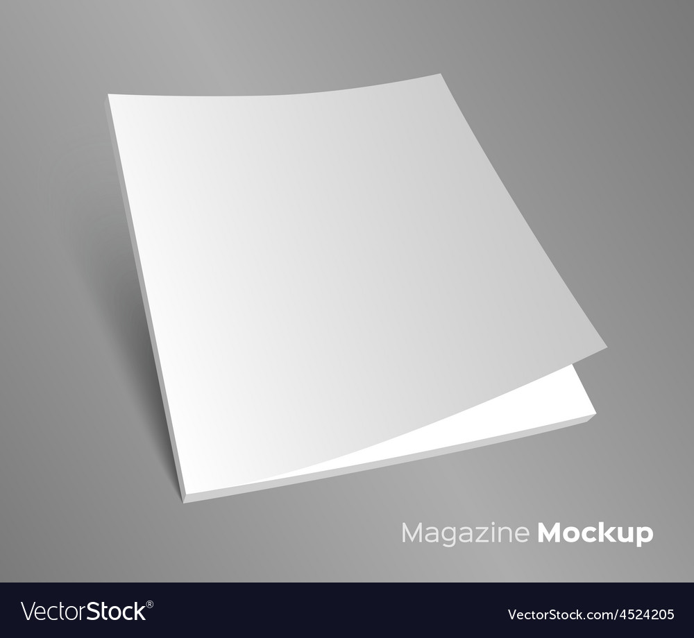 3d blank brochure cover on gray vector | Price: 1 Credit (USD $1)