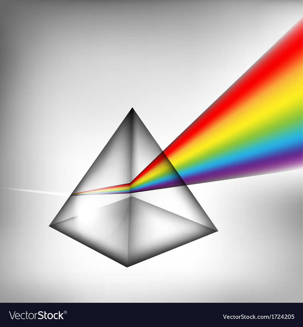 3d prism with light vector | Price: 1 Credit (USD $1)