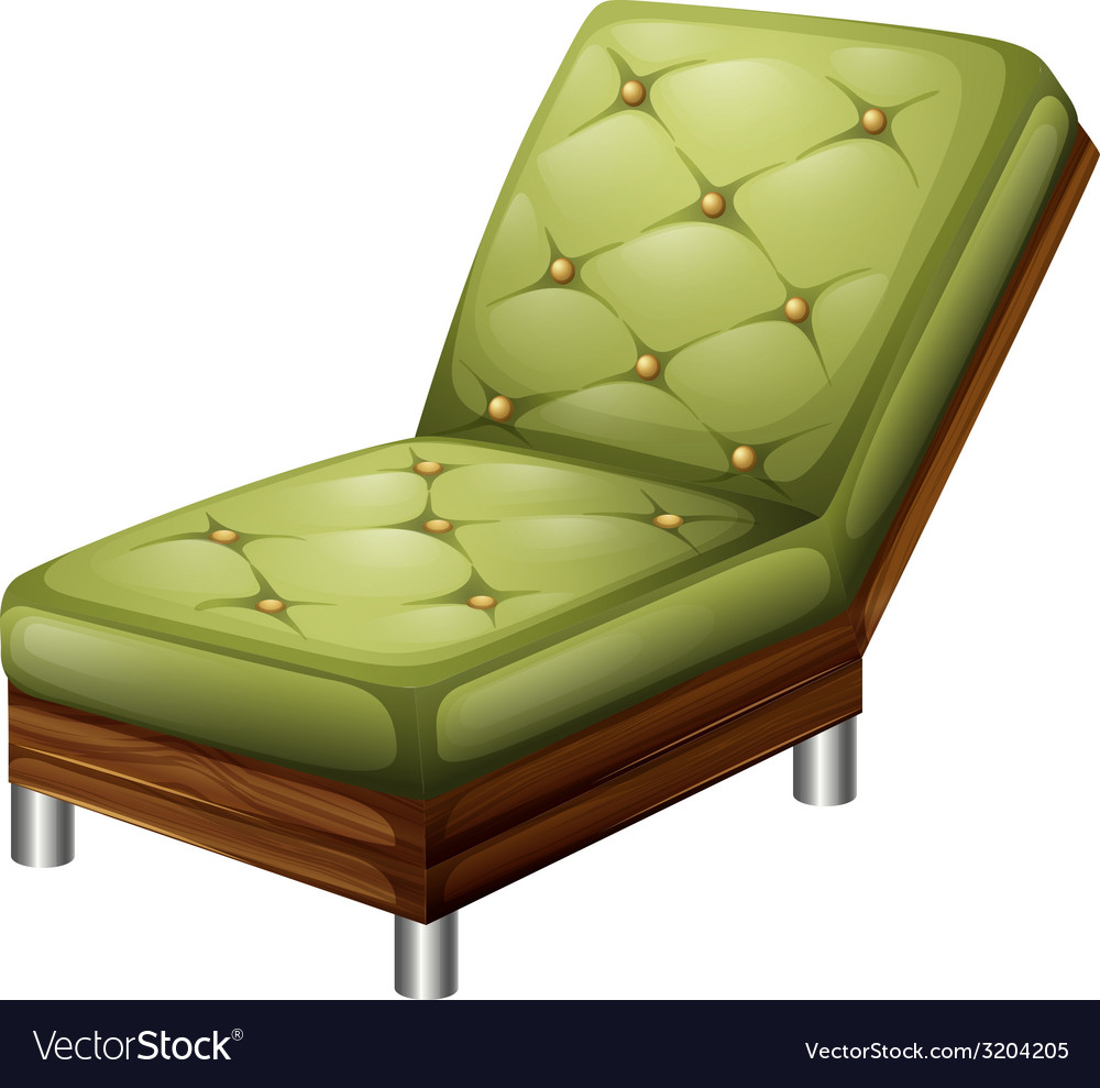 A green elegant chair furniture vector | Price: 1 Credit (USD $1)