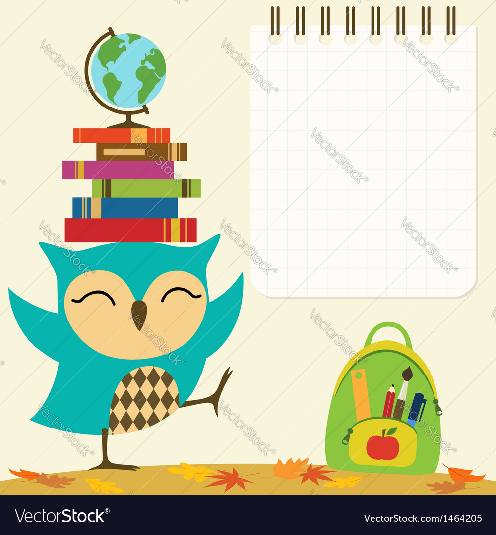 Back to school owl vector