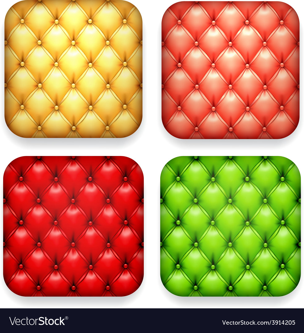 Blank upholstered color app icons vector | Price: 1 Credit (USD $1)