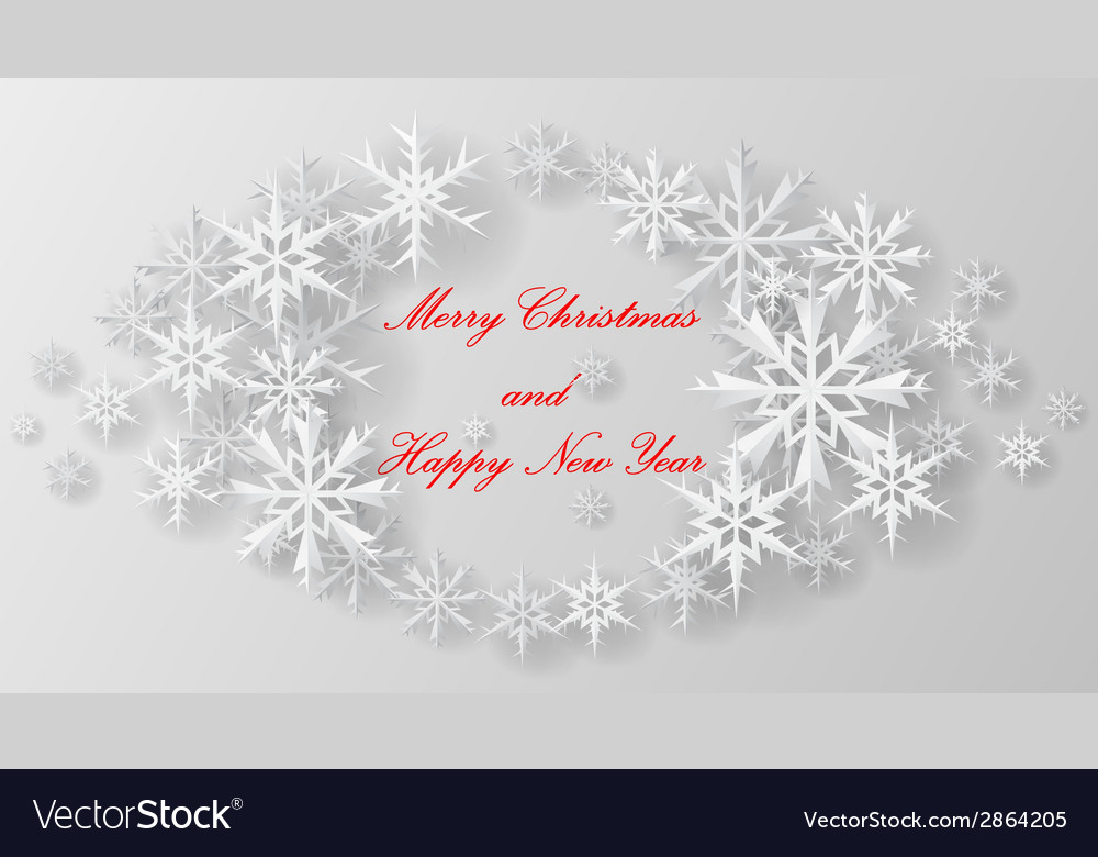 Christmas snowflake on paper vector | Price: 1 Credit (USD $1)