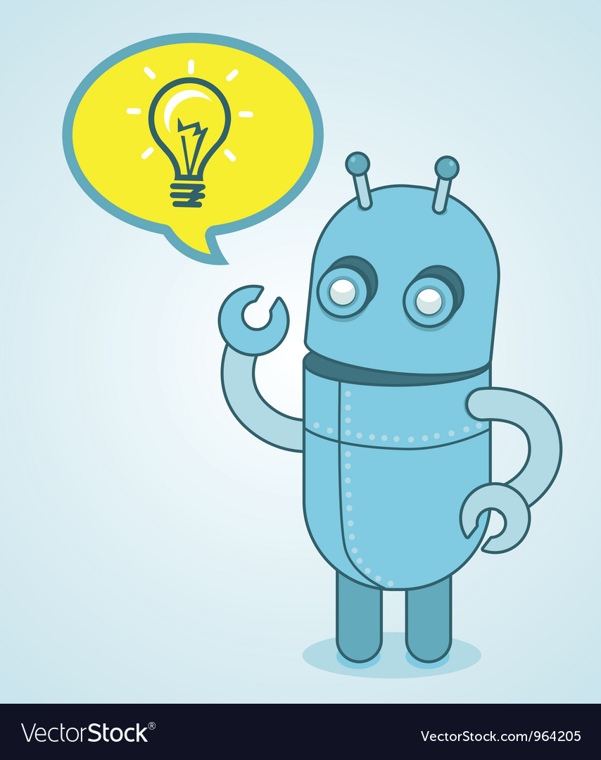 Cute robot - idea concept vector | Price: 1 Credit (USD $1)