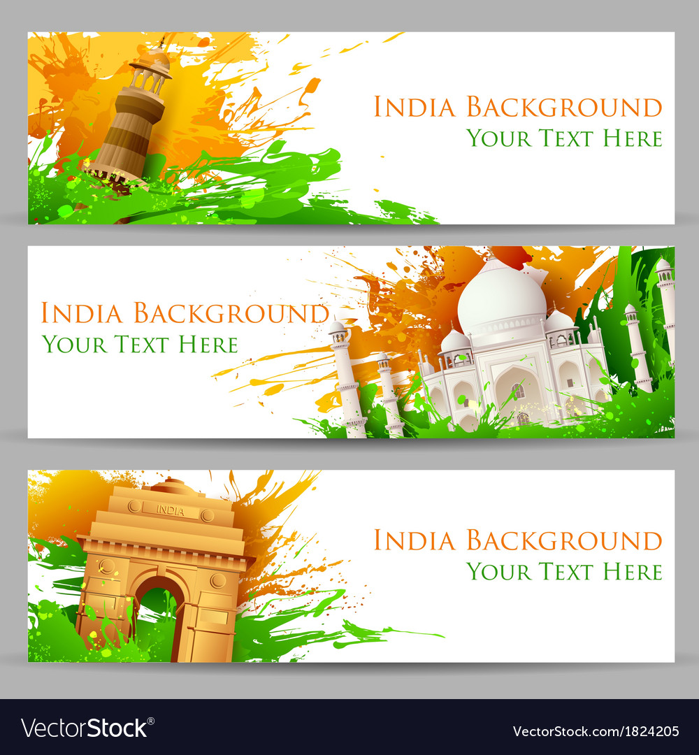 Indian monument banner vector | Price: 1 Credit (USD $1)