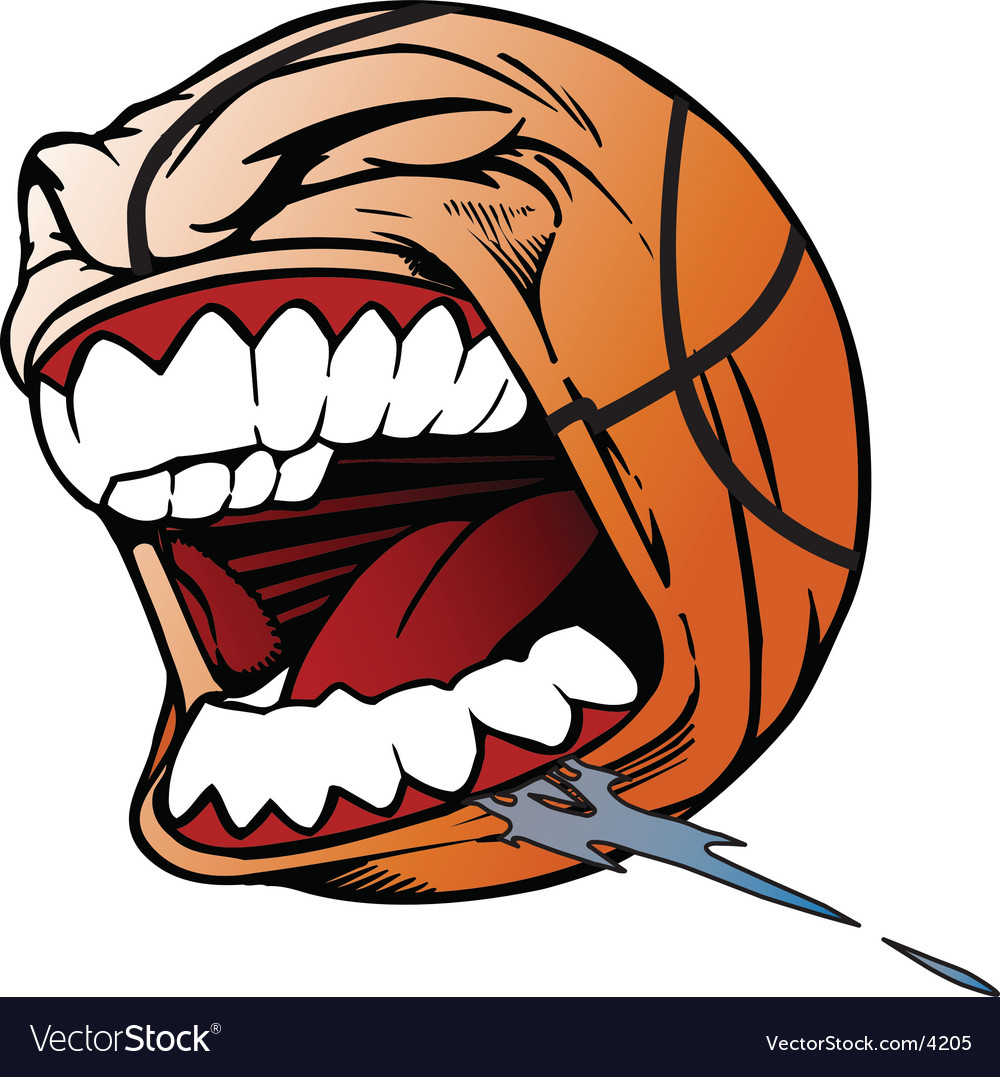 Screaming basketball vector | Price: 3 Credit (USD $3)
