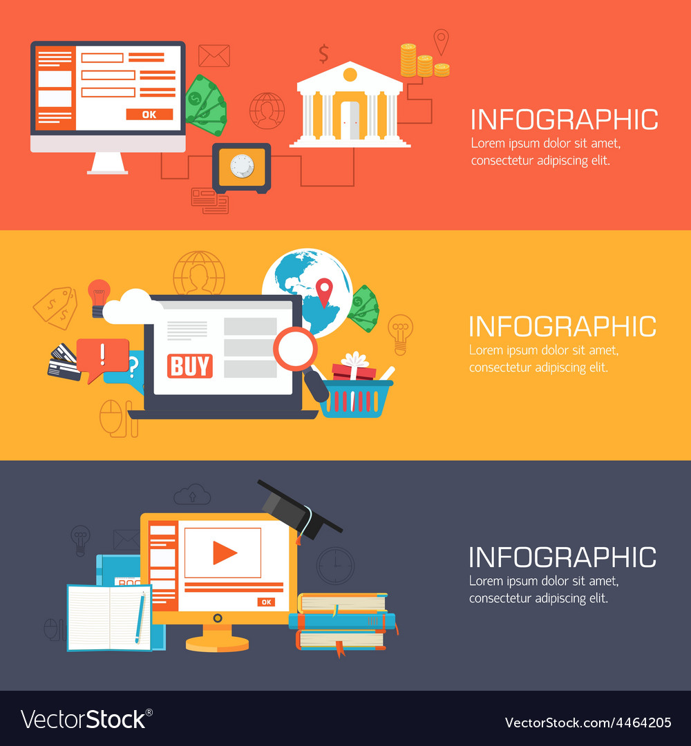 Set of web internet technology of business online vector   Price: 1 Credit (USD $1)