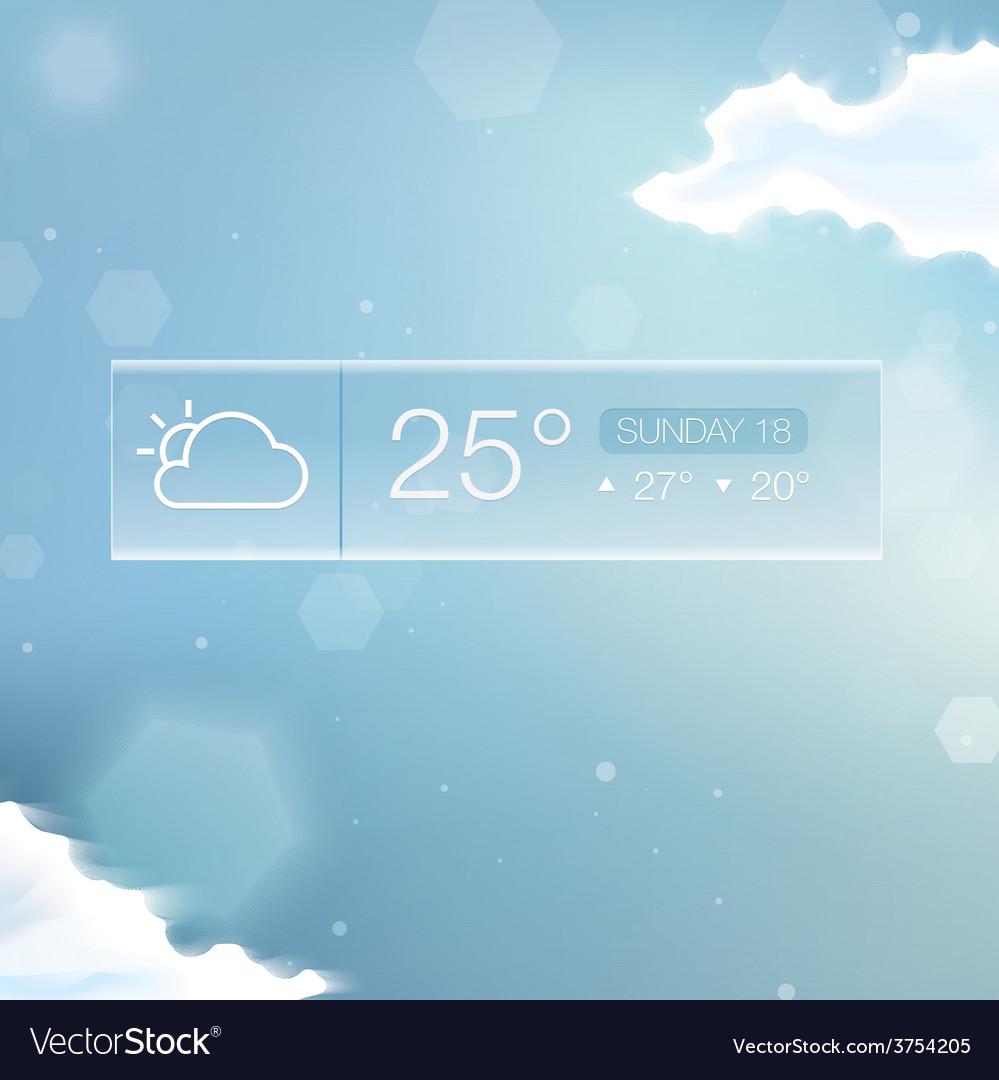 Weather widget notification vector   Price: 3 Credit (USD $3)