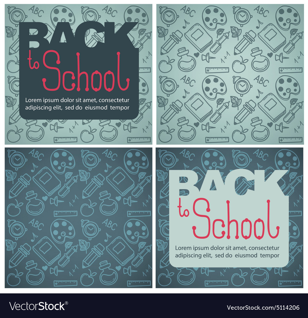 Back to school backgrounds vector
