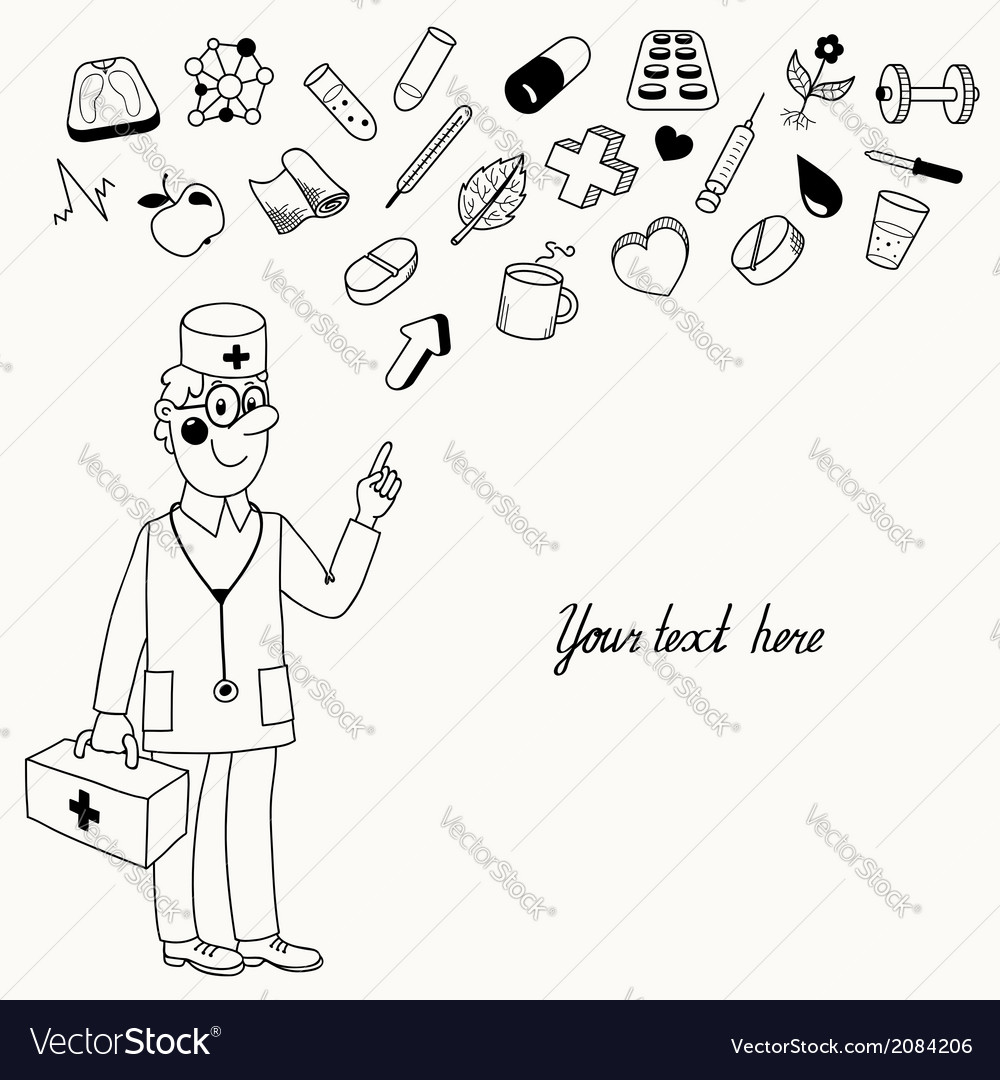 Background with a doctor who gives directives vector | Price: 1 Credit (USD $1)