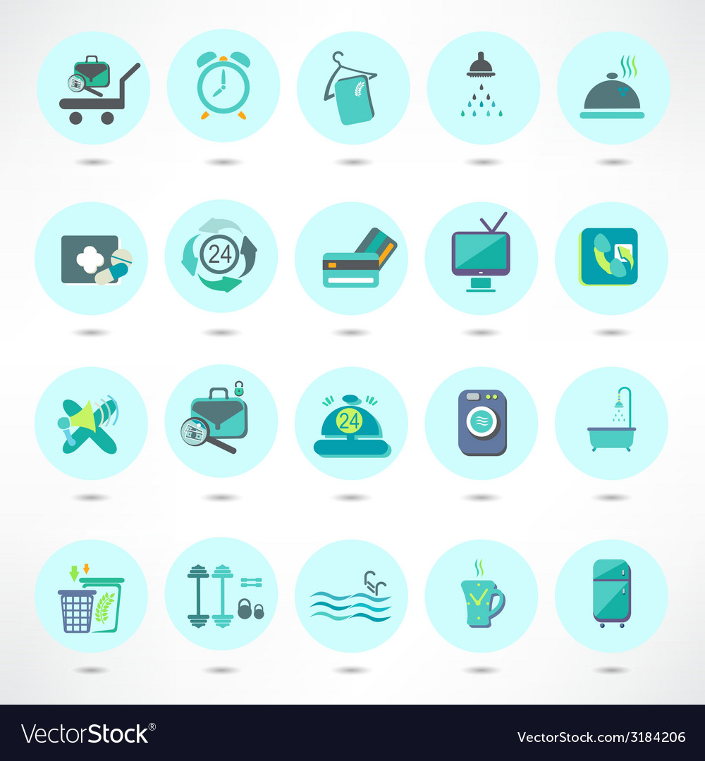 Basic - hotel icons vector | Price: 1 Credit (USD $1)