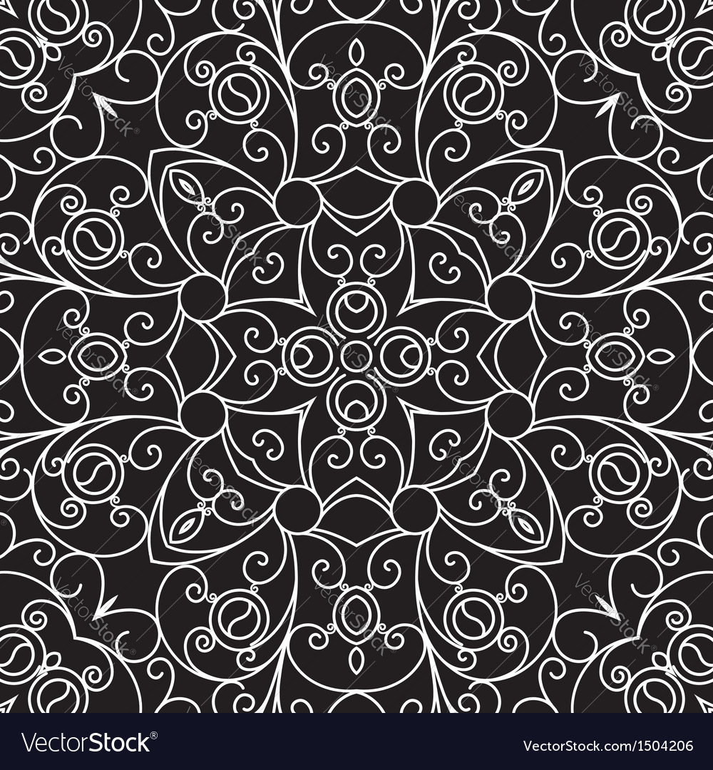 Black and white lace pattern vector | Price: 1 Credit (USD $1)