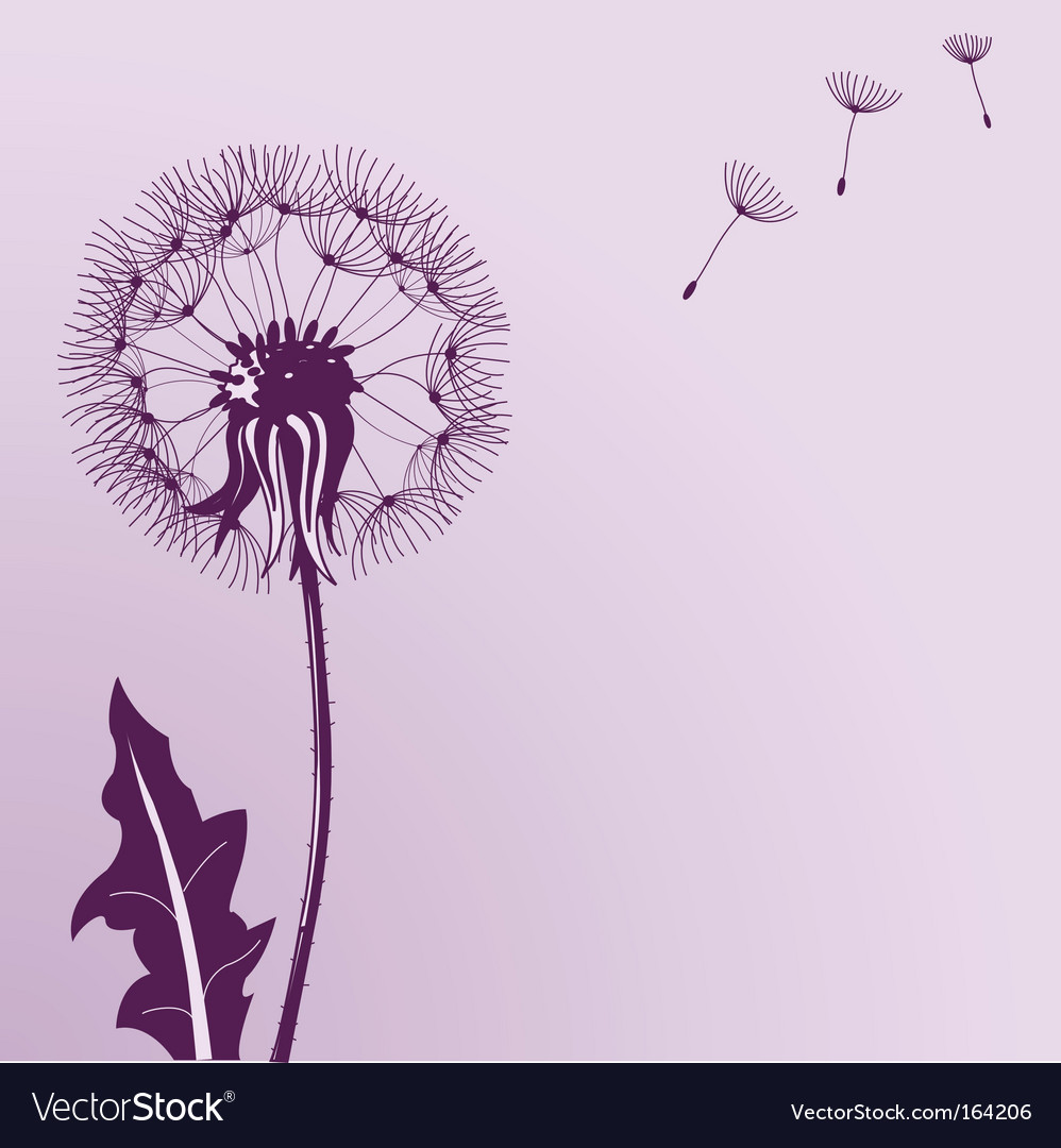 Blow dandelions vector | Price: 1 Credit (USD $1)