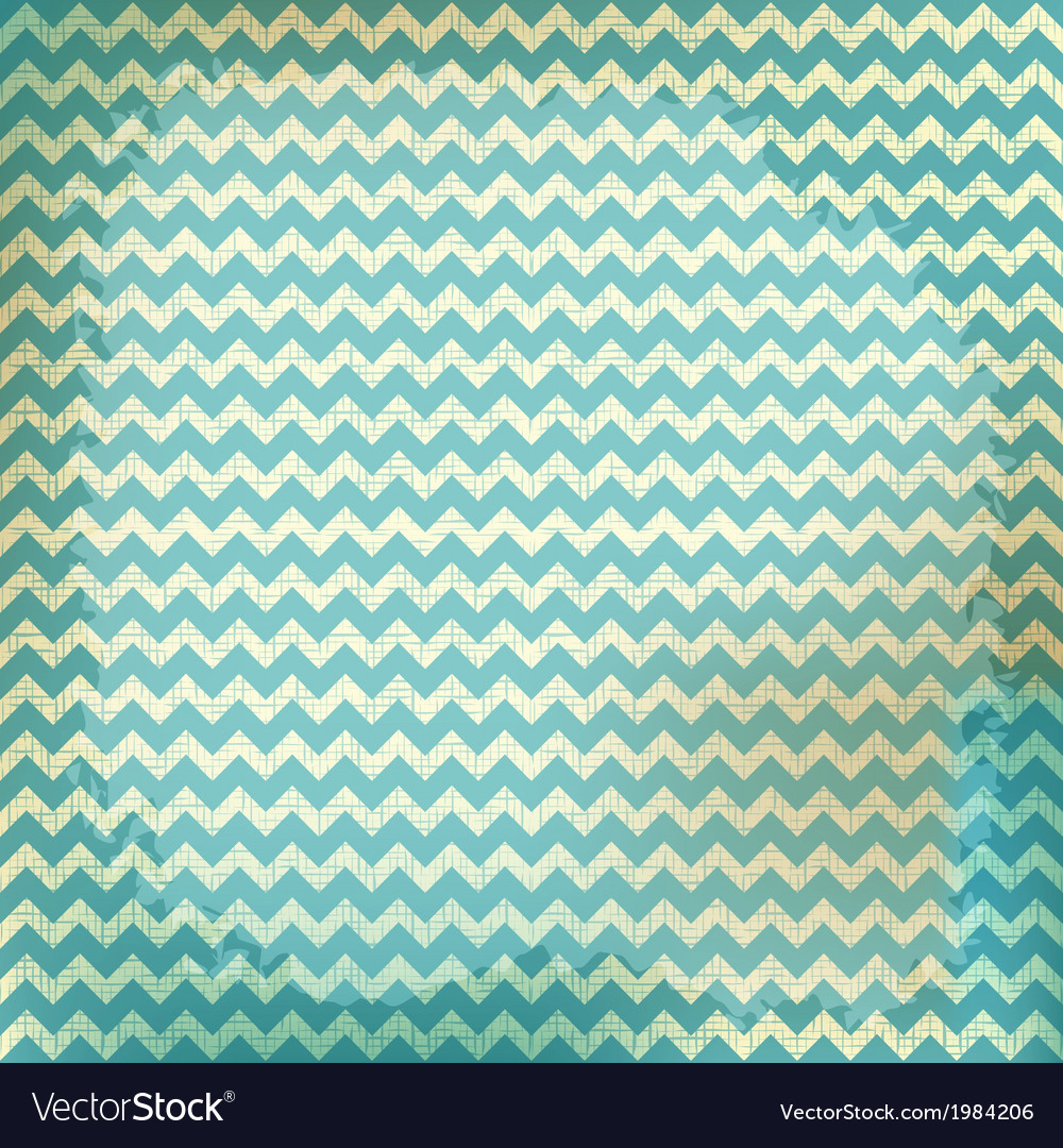 Chevron background on linen turquoise canvas vector | Price: 1 Credit (USD $1)