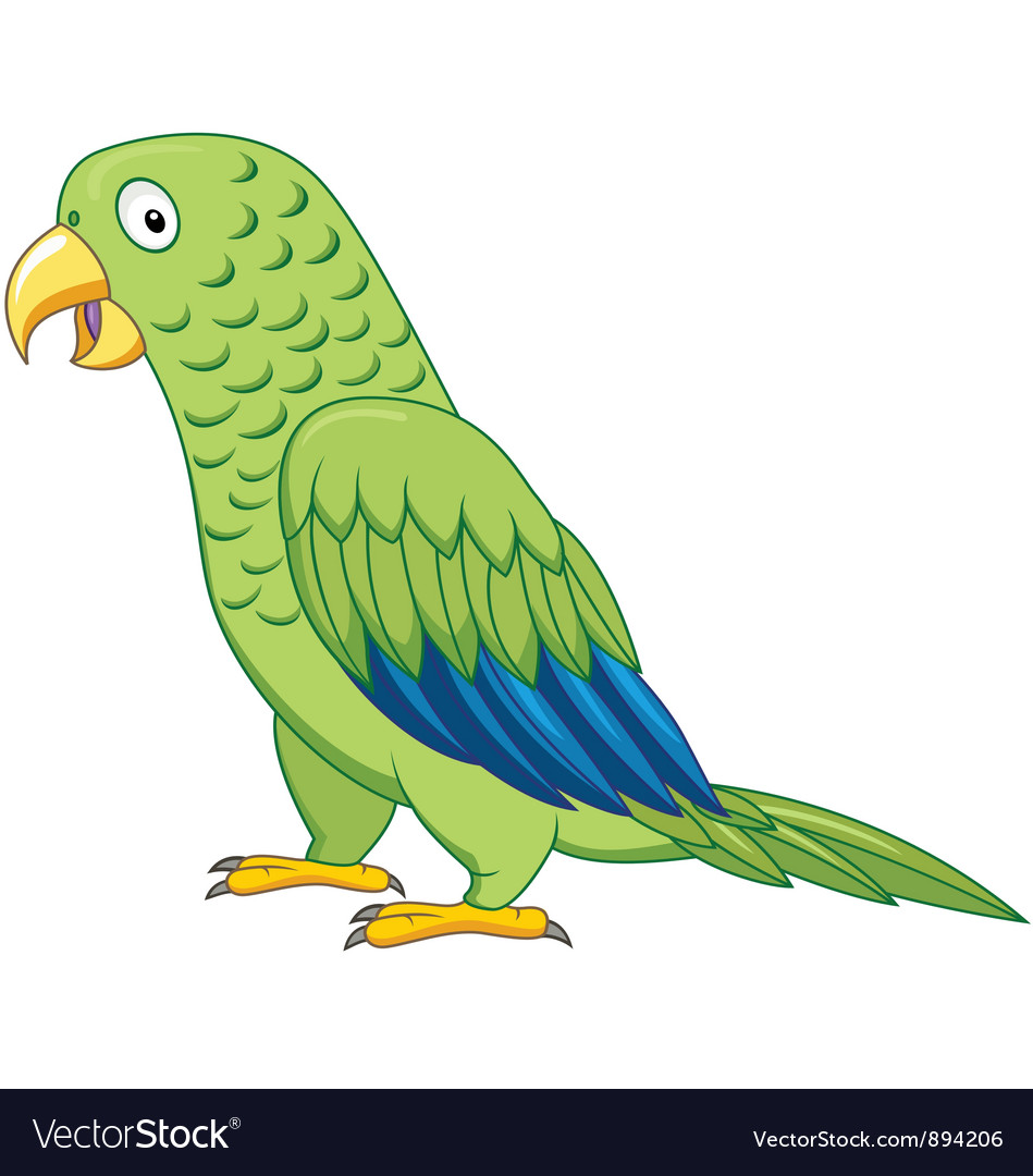 Cuta parrot cartoon isolated vector | Price: 3 Credit (USD $3)
