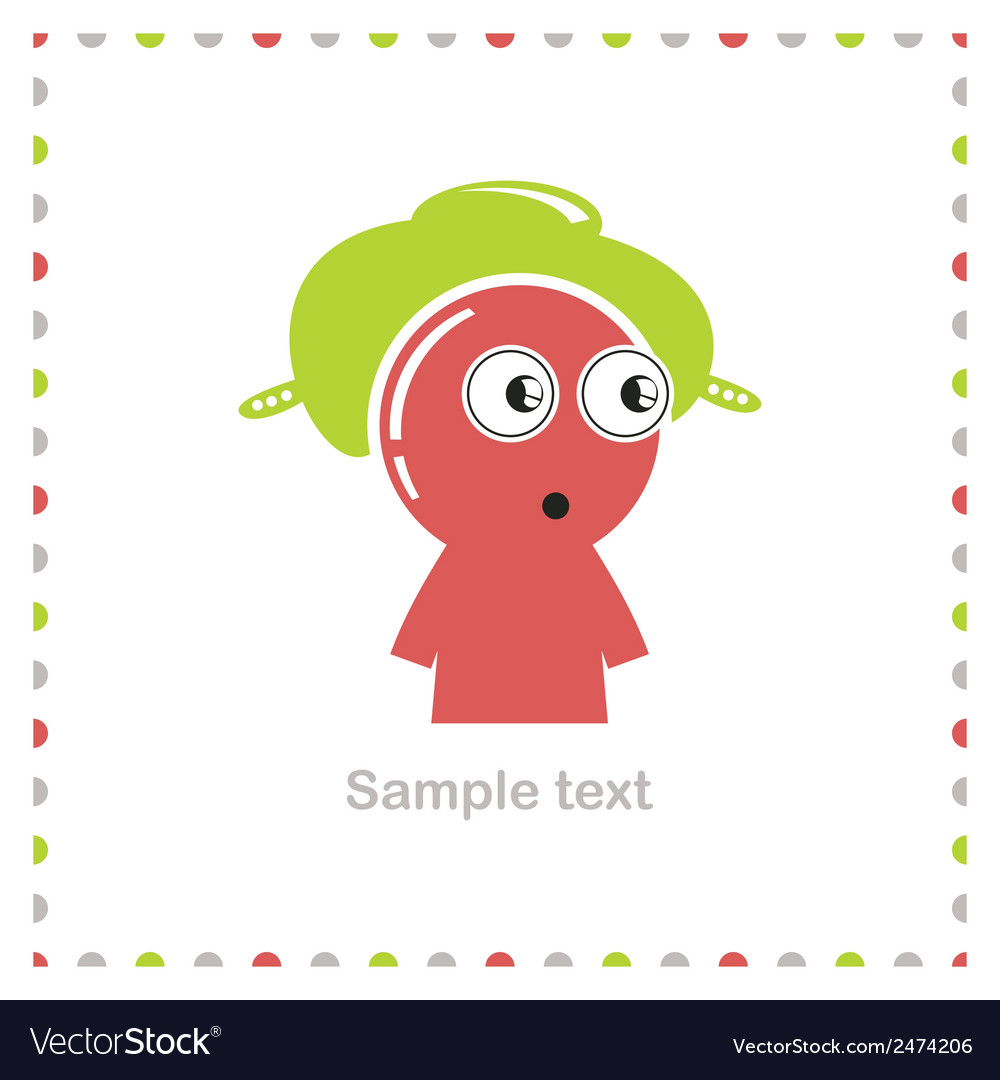 Funny character isolated on white vector | Price: 1 Credit (USD $1)
