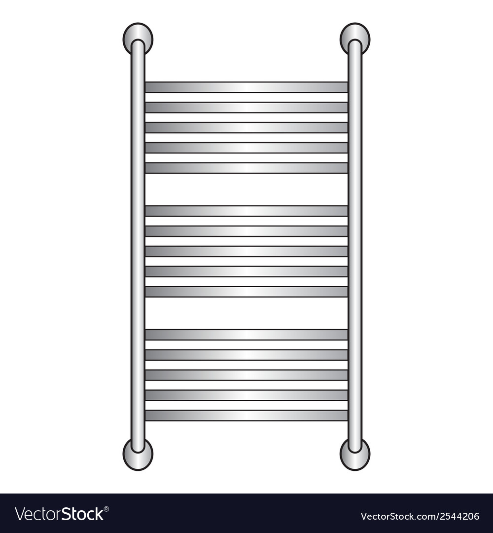 Heated towel rail vector | Price: 1 Credit (USD $1)