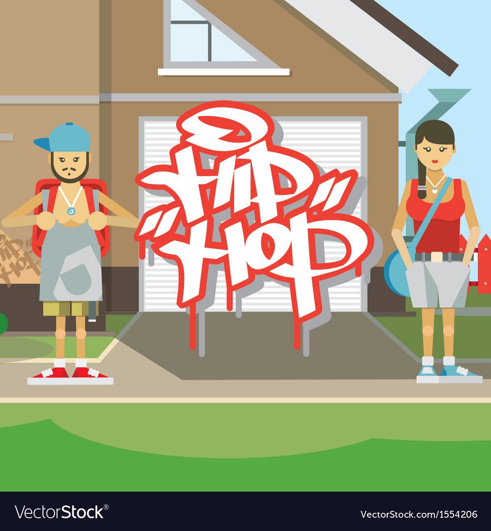 Hip hop people vector | Price: 1 Credit (USD $1)