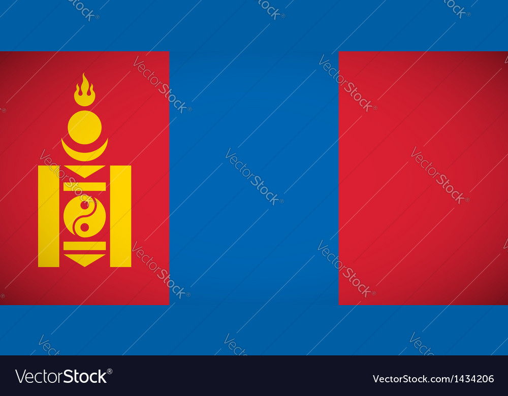 National flag of mongolia vector   Price: 1 Credit (USD $1)