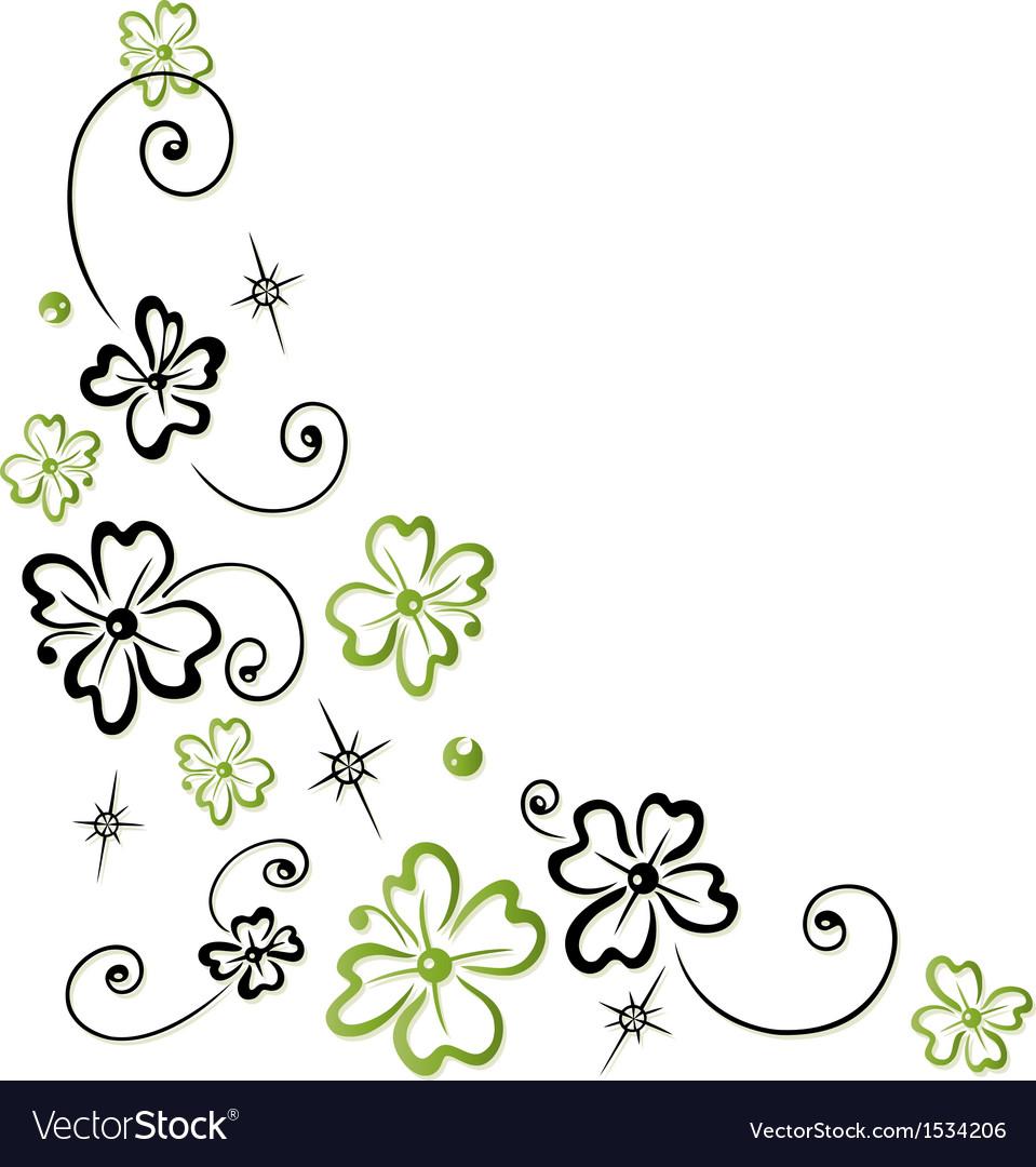 Shamrocks decoration tendril vector | Price: 1 Credit (USD $1)