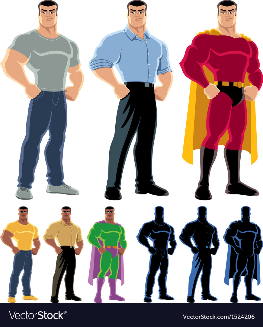 Superhero transformation vector | Price: 1 Credit (USD $1)