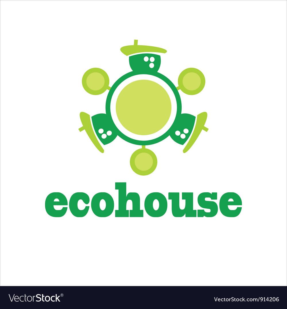 Symbols home house vector | Price: 1 Credit (USD $1)