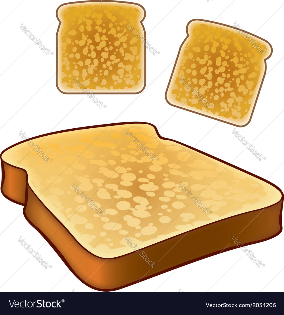 Toast icons top and isometric views vector | Price: 1 Credit (USD $1)