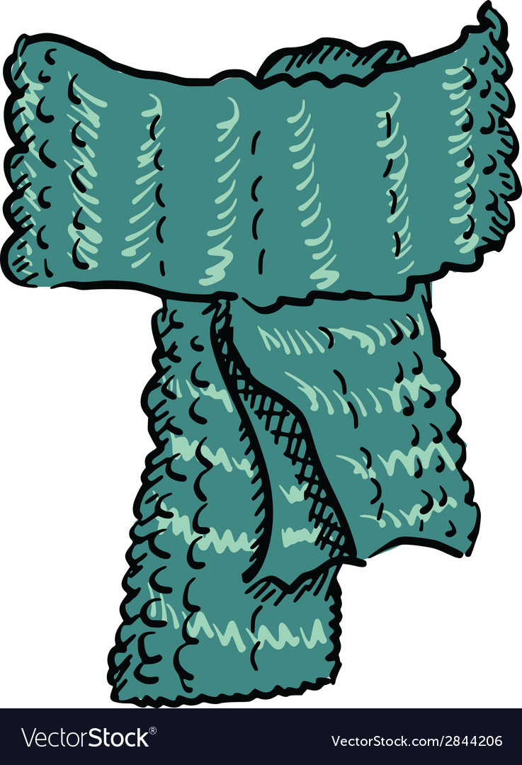 Wool scarf vector