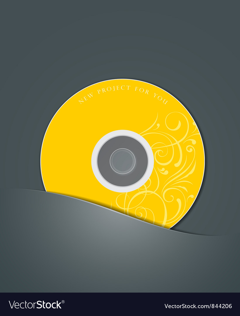 Yellow cd in black package vector | Price: 1 Credit (USD $1)