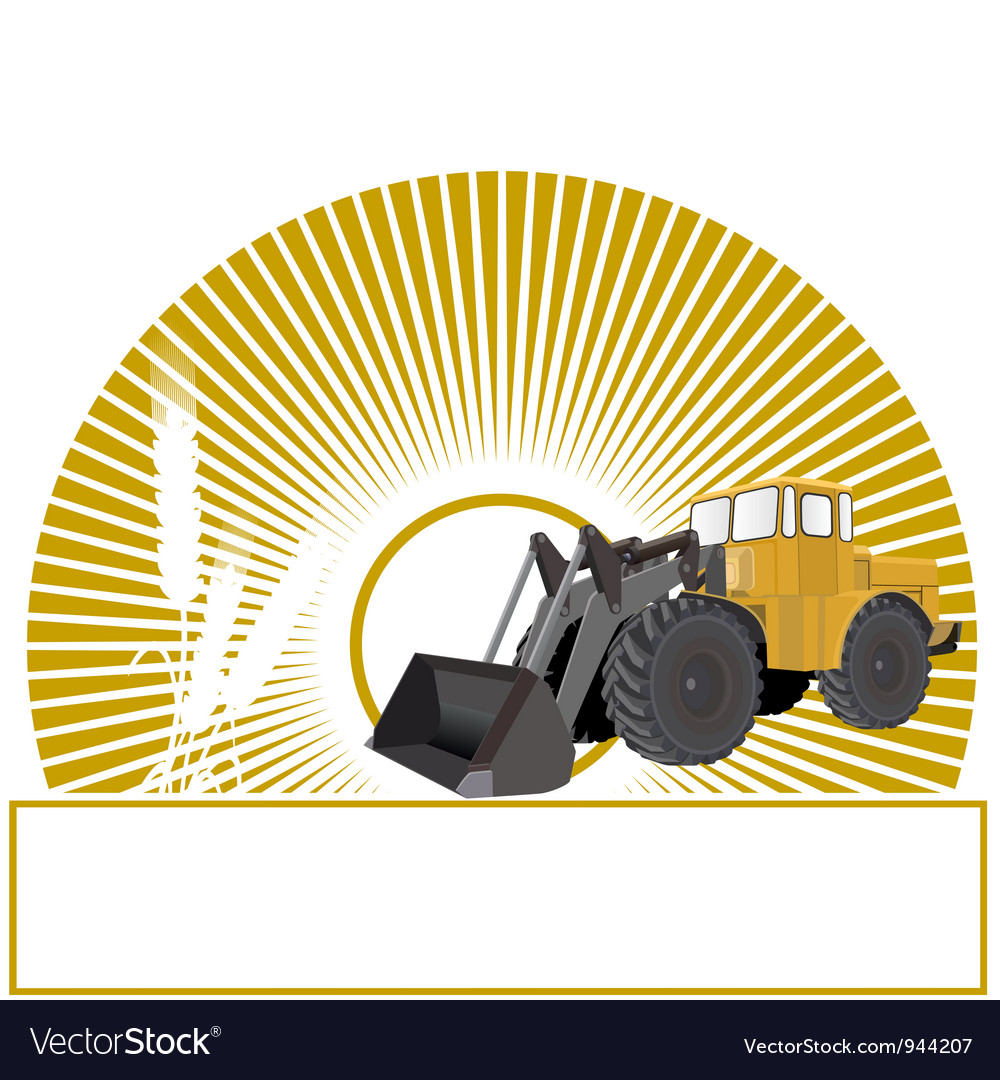 Agriculture and the sun vector | Price: 1 Credit (USD $1)