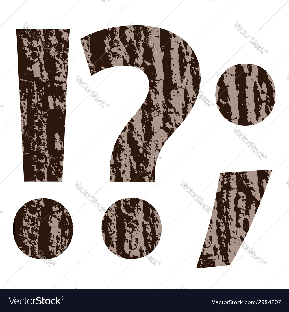 Bark question mark vector | Price: 1 Credit (USD $1)