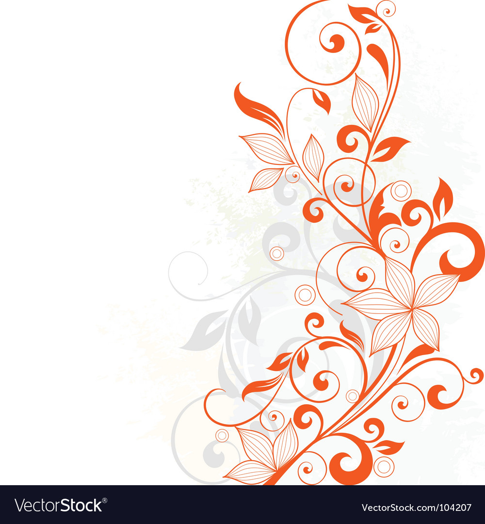 Floral vine vector | Price: 1 Credit (USD $1)