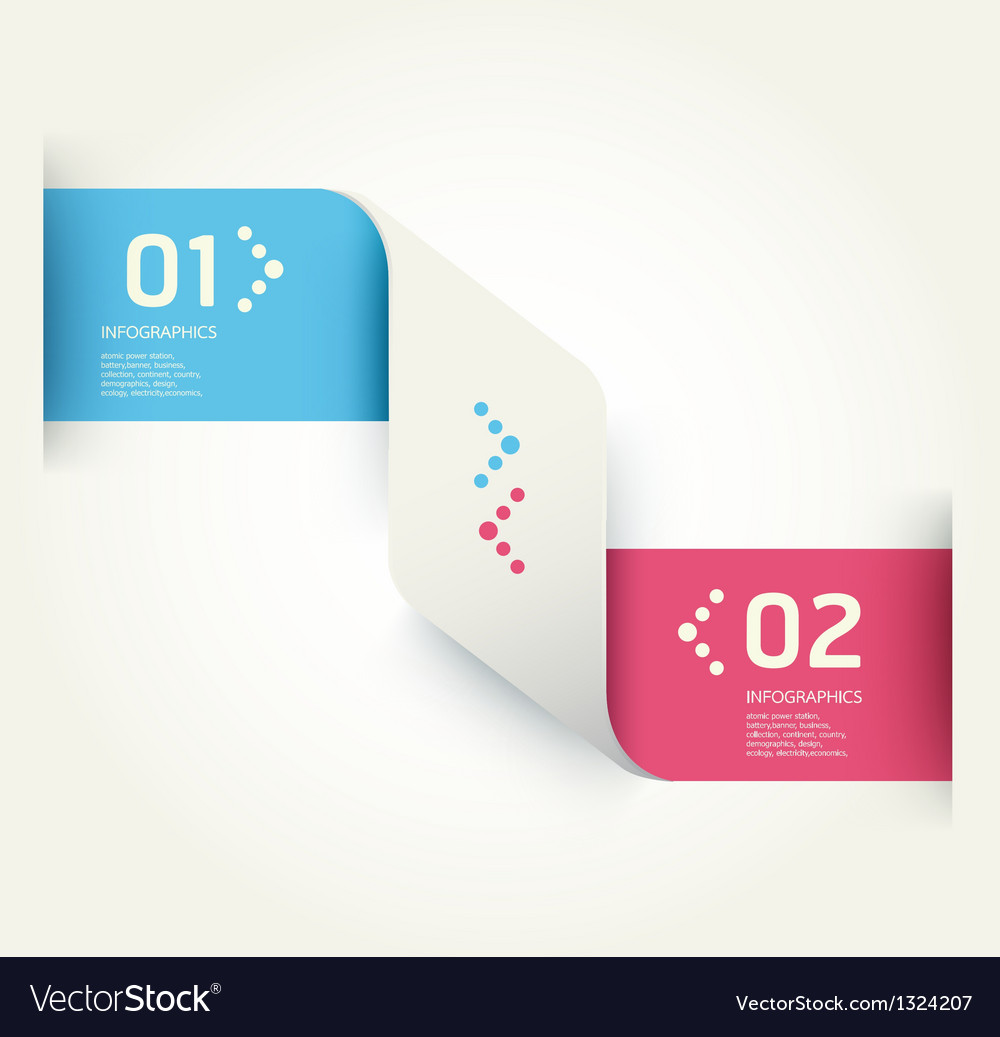 Modern design template numbered banners vector | Price: 1 Credit (USD $1)