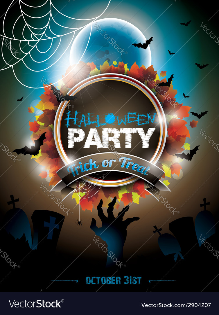 On a halloween party theme vector | Price: 3 Credit (USD $3)