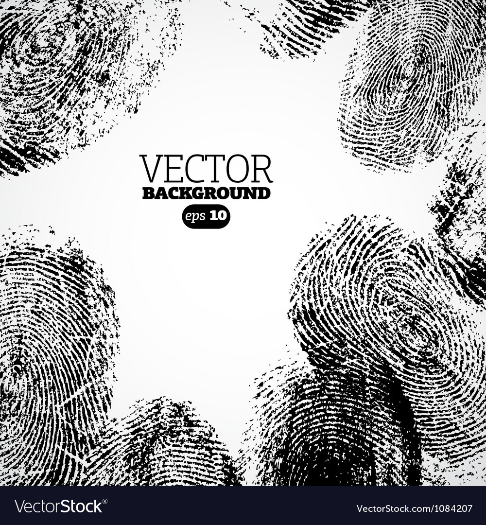 Thumb finger print background vector | Price: 1 Credit (USD $1)