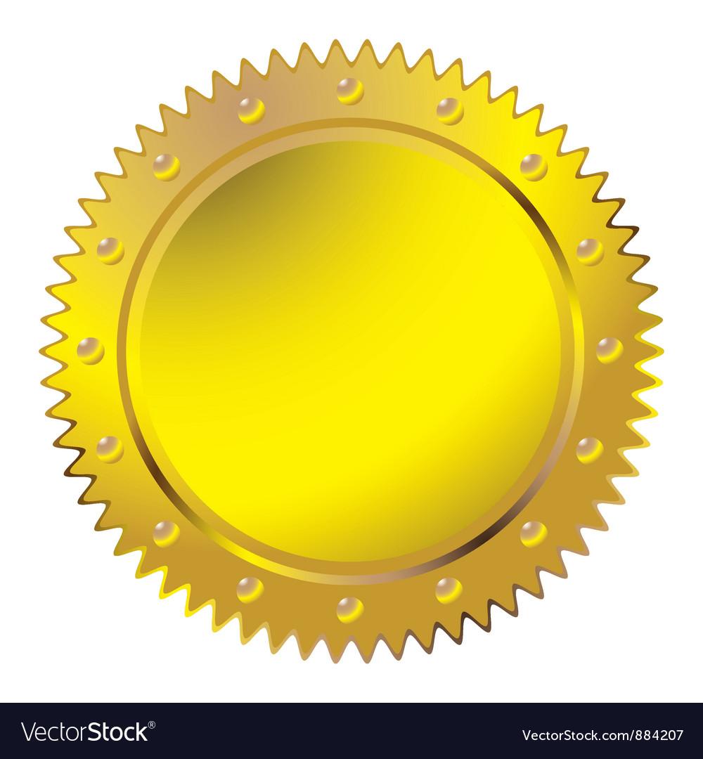 Wax golden seal vector | Price: 1 Credit (USD $1)