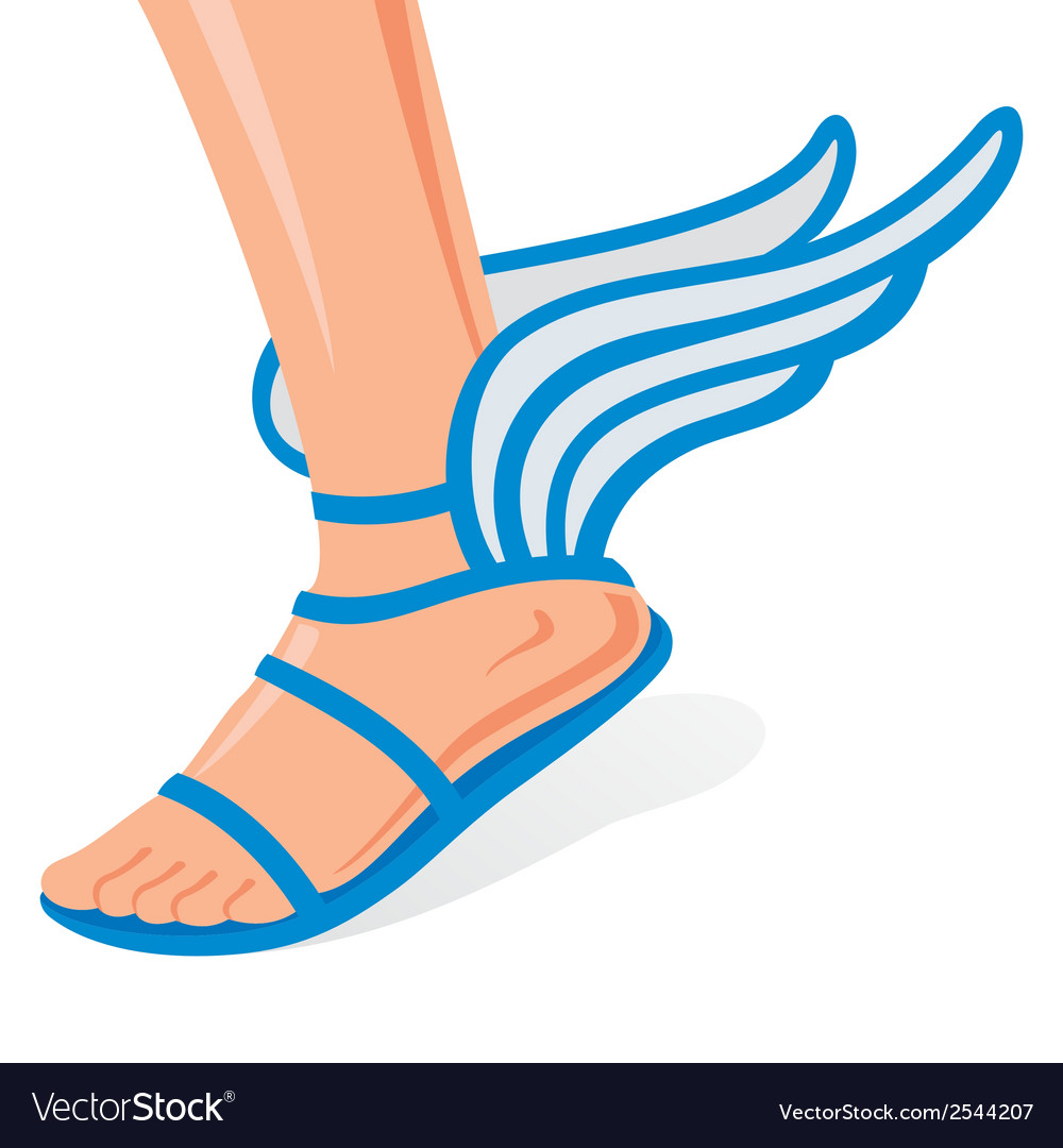 Winged shoes vector | Price: 1 Credit (USD $1)