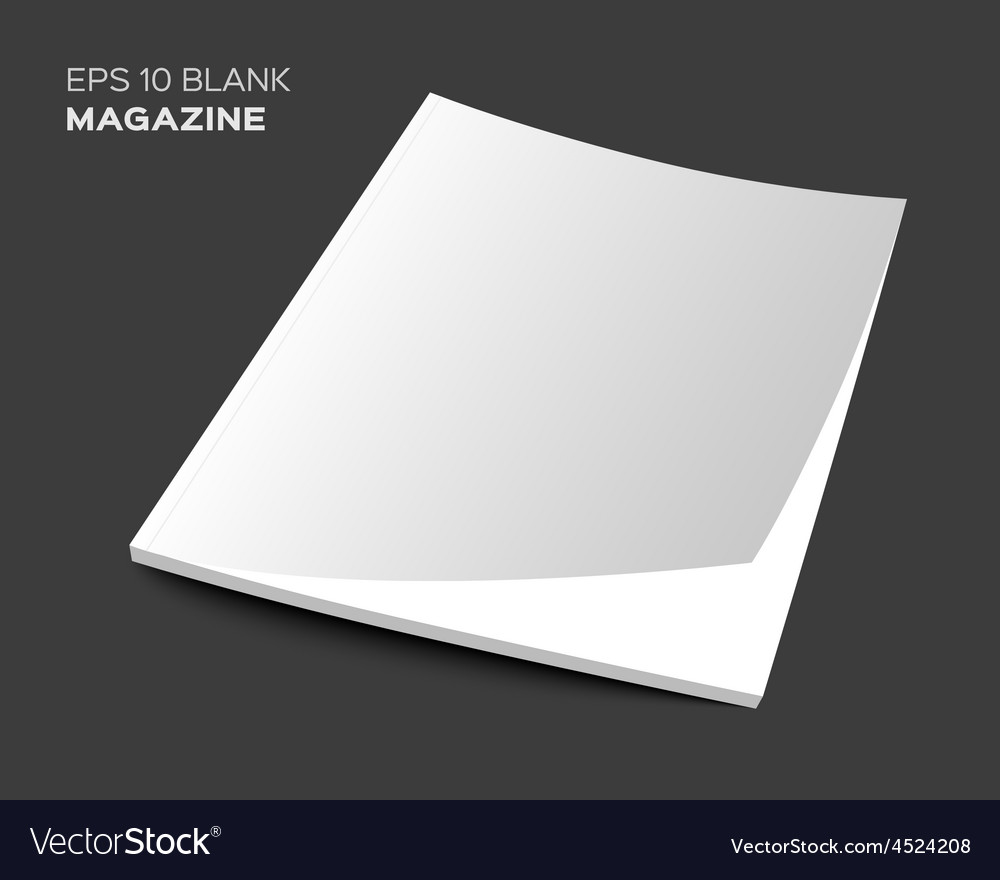 3d blank magazine or brochure vector | Price: 1 Credit (USD $1)