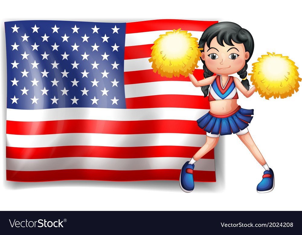 A cheerleader from the usa vector | Price: 3 Credit (USD $3)