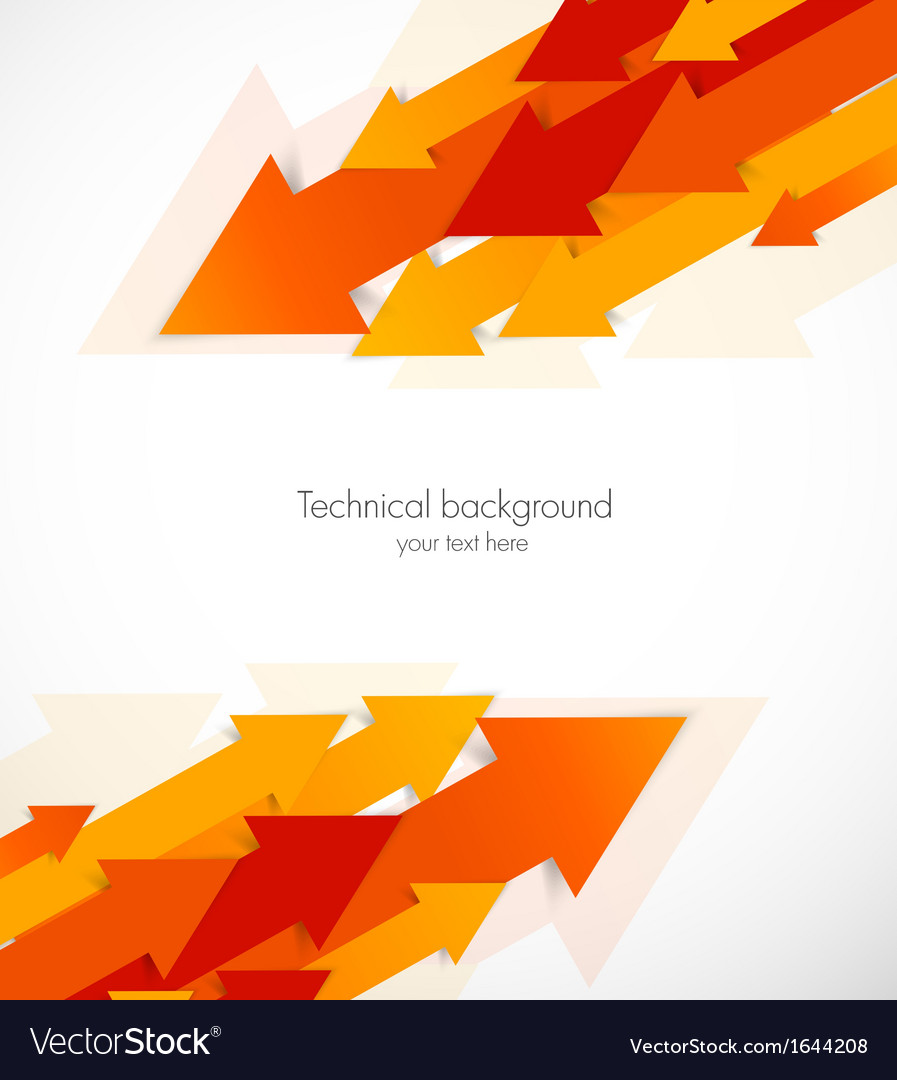 Abstract background with orange arrows vector | Price: 1 Credit (USD $1)
