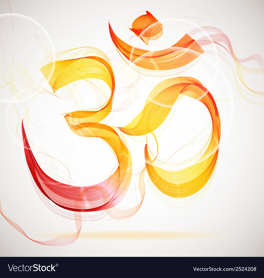 Abstract colorful om sign vector | Price: 1 Credit (USD $1)