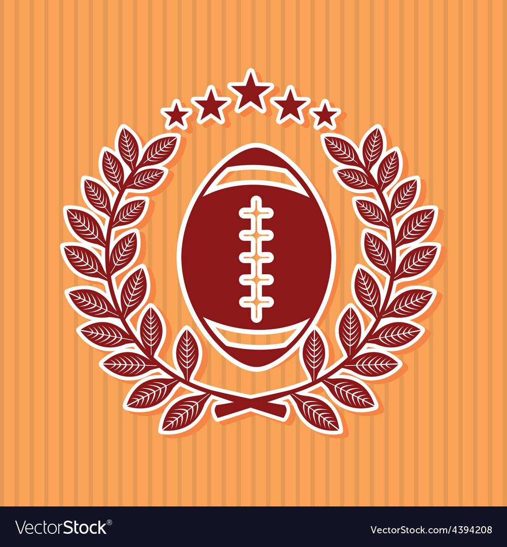 American football vector | Price: 1 Credit (USD $1)
