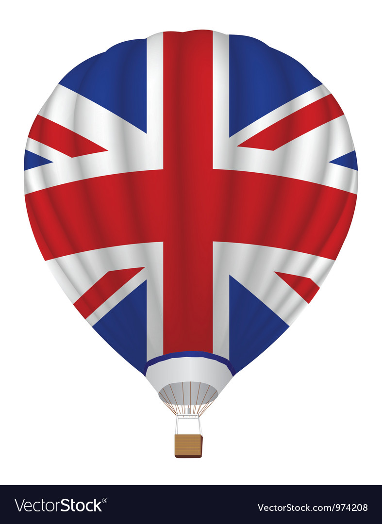 Balloon with united kingdom flag vector | Price: 1 Credit (USD $1)