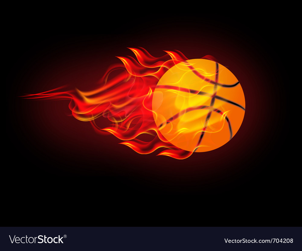 Basketball on fire vector | Price: 3 Credit (USD $3)