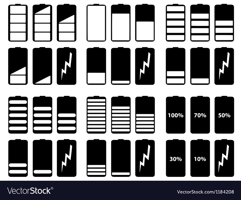 Battery levels vector | Price: 1 Credit (USD $1)