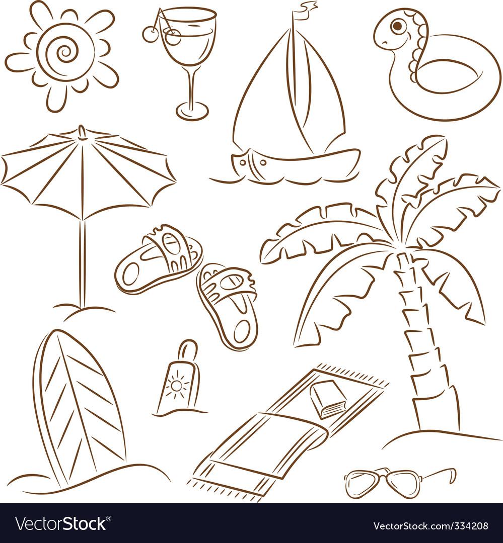 Beach vacation vector | Price: 1 Credit (USD $1)
