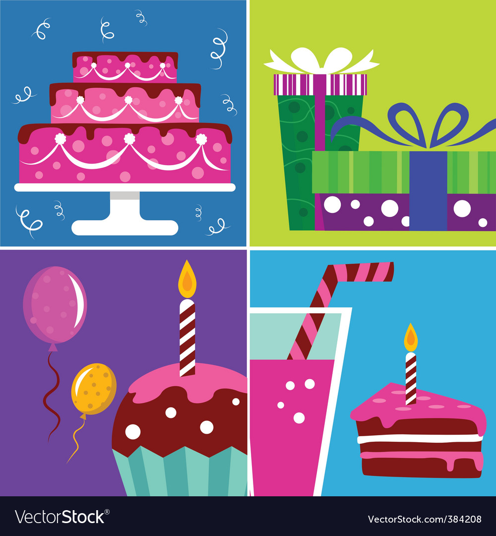 Birthday design elements vector | Price: 1 Credit (USD $1)