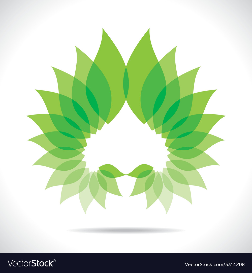 Creative green leaf icon vector | Price: 1 Credit (USD $1)