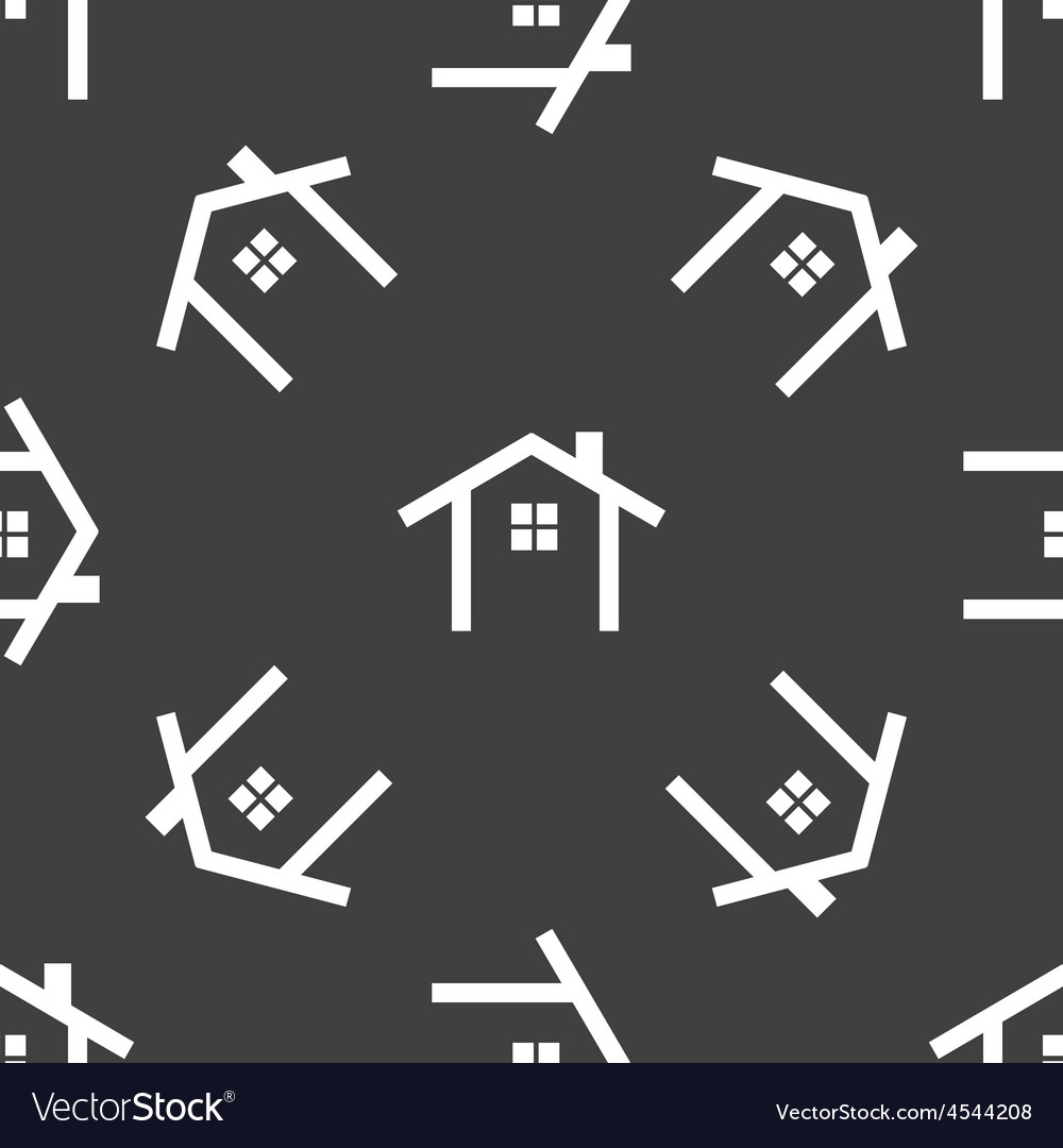 House contour pattern vector | Price: 1 Credit (USD $1)