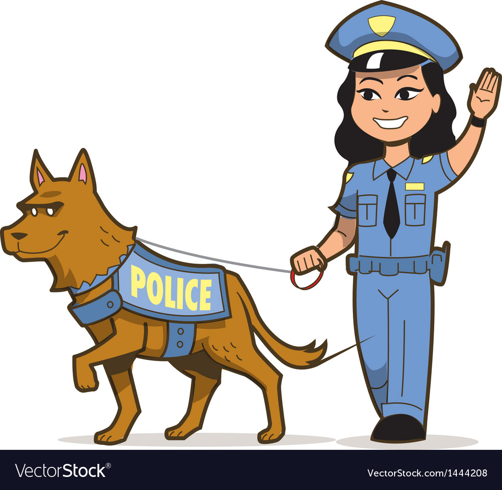 K-9 police dog vector | Price: 1 Credit (USD $1)