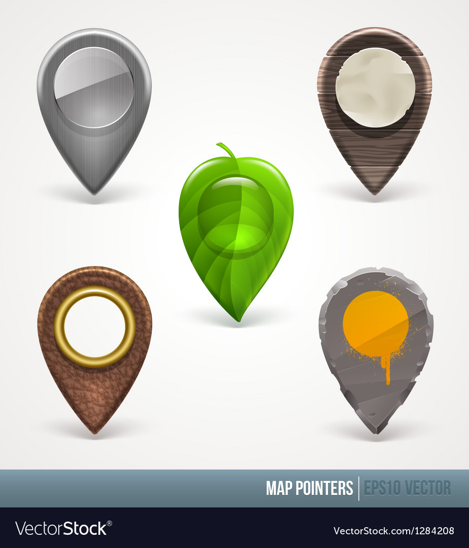 Map pointers - different material and textures vector | Price: 3 Credit (USD $3)